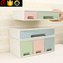 Wholesale home storage & organization Stackable Plastic Drawer Organizer