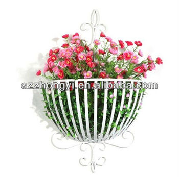 Wall Mounted Iron Flower Basket