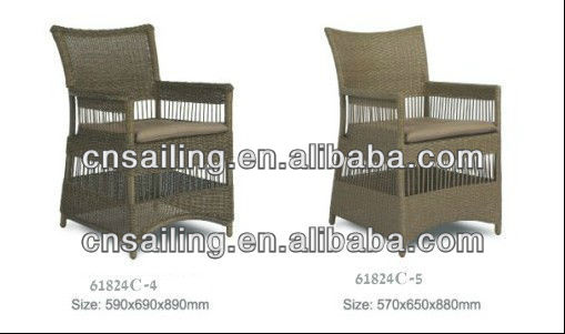 Sailing Leisure All Weather Garden Wicker Outdoor High Back Synthetic Rattan Chair