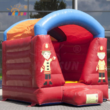Applied super inflatable small fire truck, inflatable fun city, fire truck games