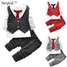 2015 spring New England tide fan child wear tie vest mosaic colour matching Plaid suits wholesale