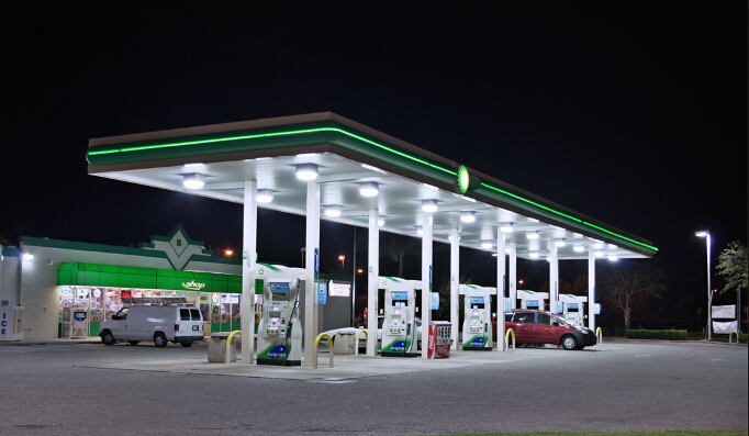 Cost Of Steel Space Frame Flat Roof Gas Station Canopy