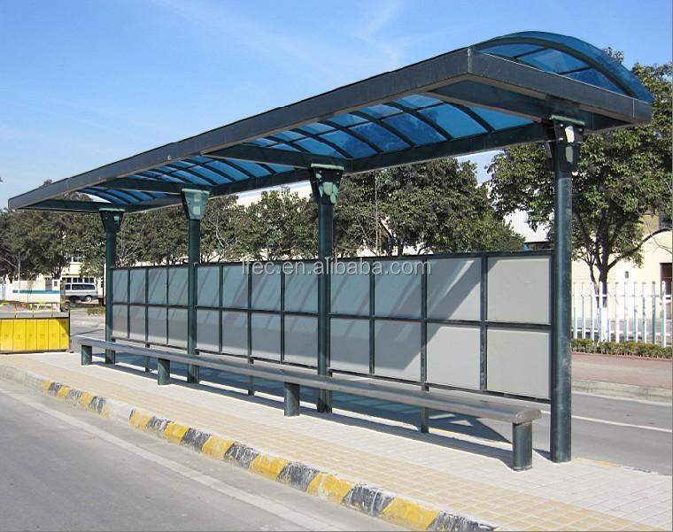 Prefabricados de estaci n de autobuses refugio techo de - Garajes de metal ...