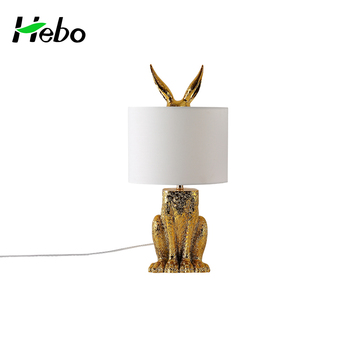 Modern decorate gold children room bedroom resin animal shaped modern decorate gold children room bedroom resin animal shaped rabbit table lamps aloadofball Image collections
