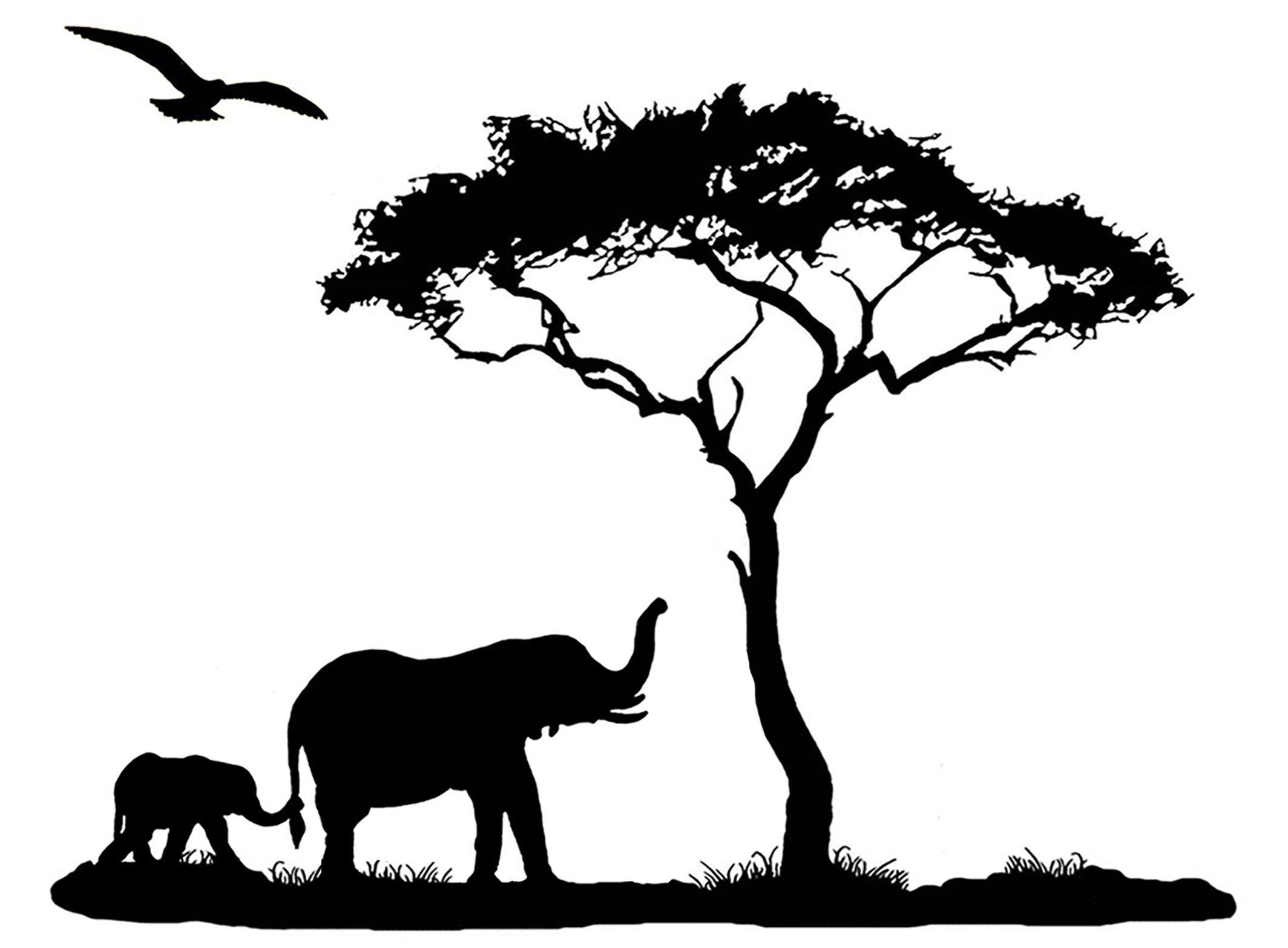 африканский пейзаж рисунки карандашом как иначе