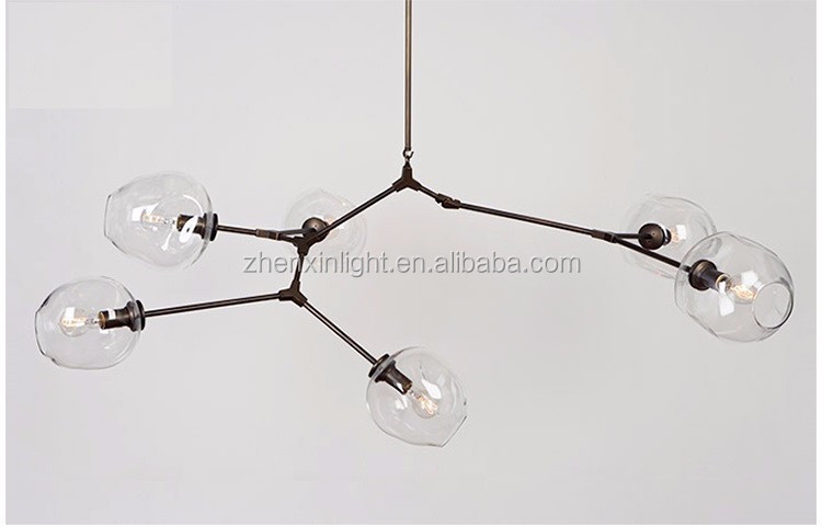 modern new product Lindsey Adelman aluminum branching bubble glass pendant lighting