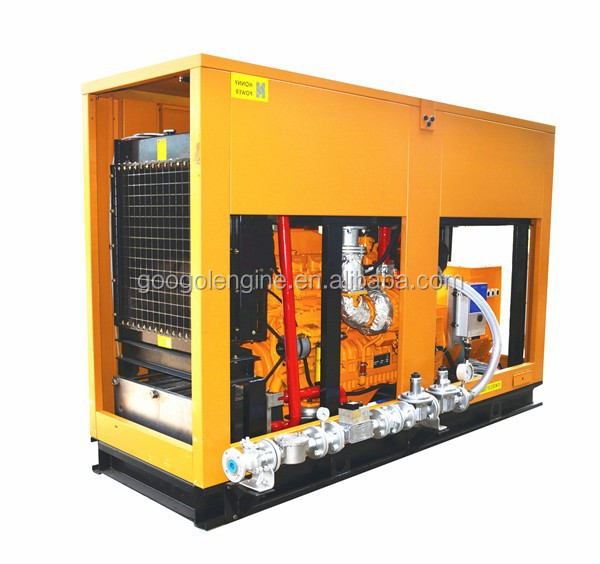 60Hz 1800RPM 6 Cylinder Engine 160kW 200kVA Natural Gas Generator with Canopy