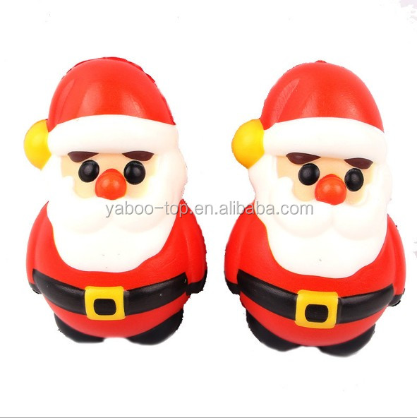(Gift) #103 Customized Color Cute Santa Anti Stress Soft PU Christmas Santa Toys