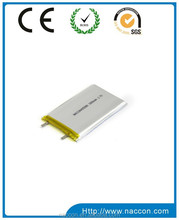 3.7v shape li-polymer battery rechargeable battery portable heater battery with high power