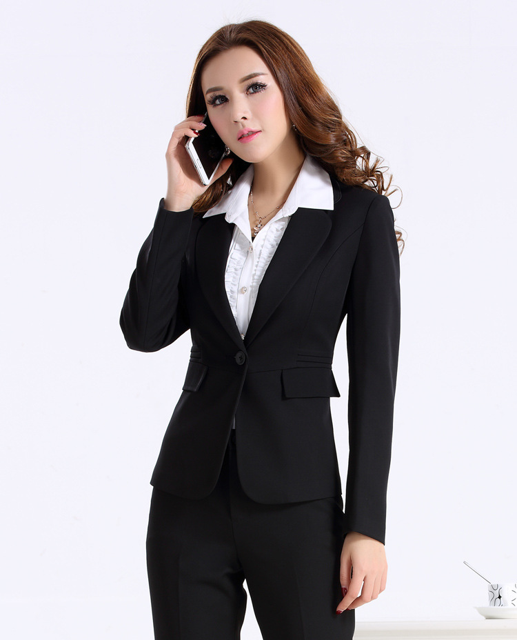 women trousers sets elegant 2015 autumn designer women business pant suits formal office suits. Black Bedroom Furniture Sets. Home Design Ideas