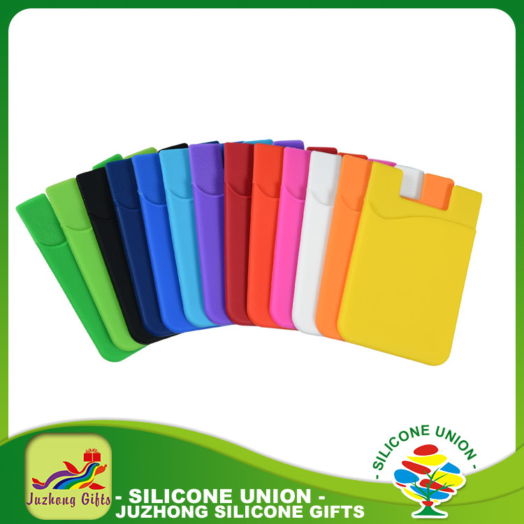 Promotional Smart wallet Silicone cell phone credit card holder