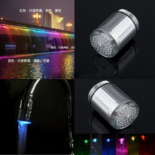 7 Colors Led Faucet Changing Water Shower Head Kitchen
