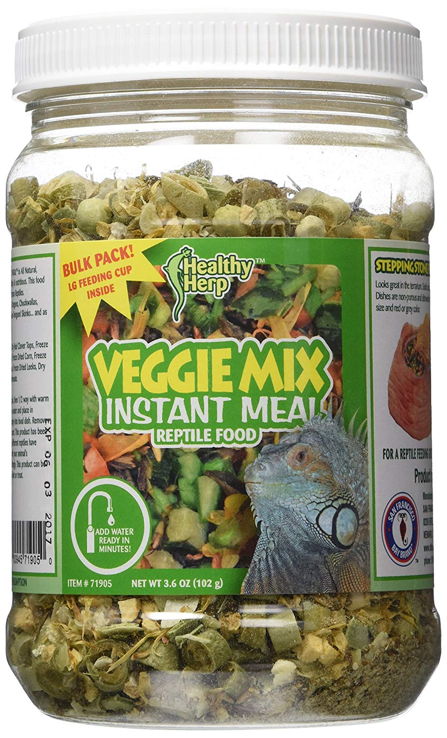 San Francisco Bay Brand SSF71905 Bulk Health Herp Veggie Mix Instant Meal, 3.6-Ounce