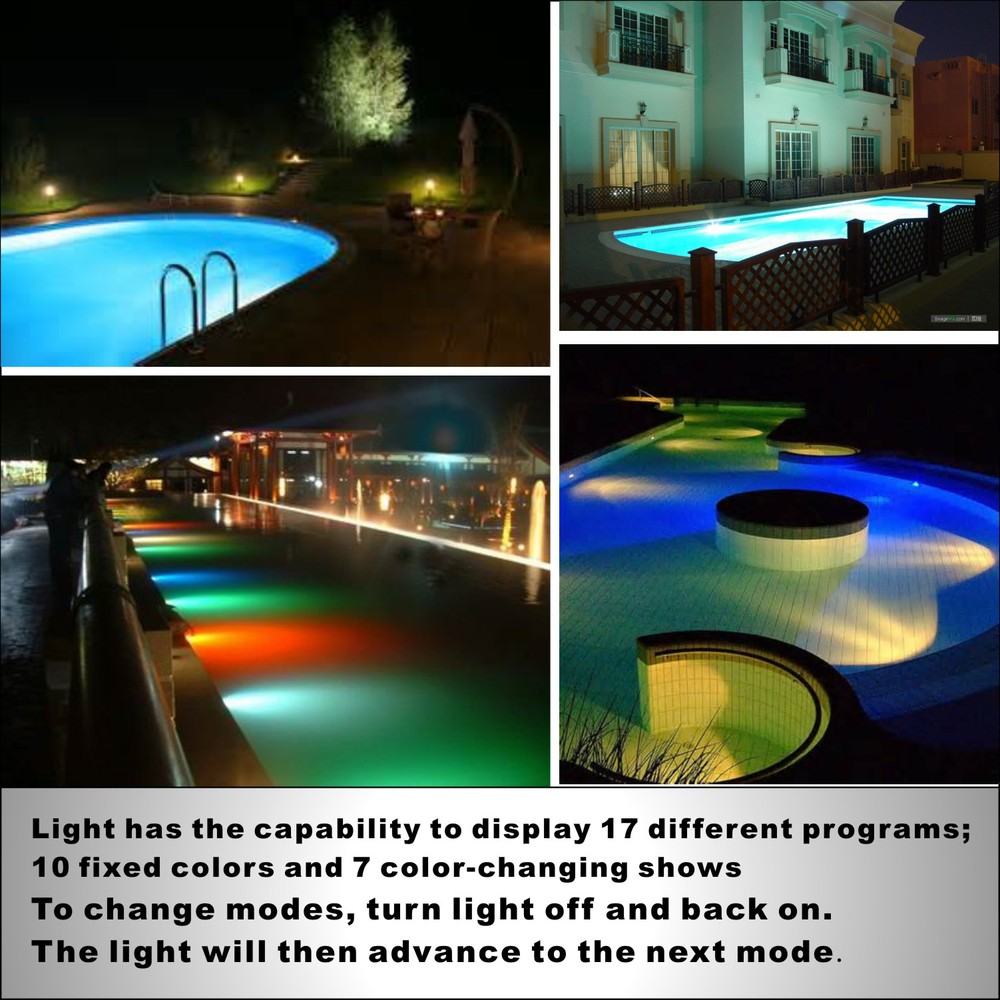 Surface Mount wireless 60w led boat light ip68 led deck light red light