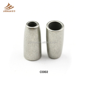 Factory Price Wholesale Silver Metal Beads Cord End For Clothing