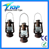 Outdoor Traditional Look Antique 15 LED Colorful Hurricane Lantern