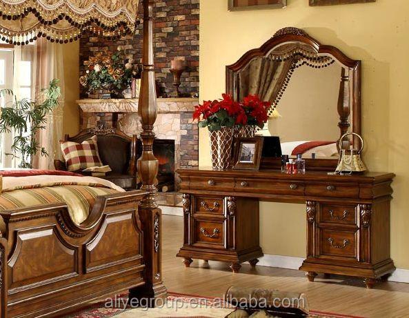 Mm01-antique Madera Maciza Muebles De Dormitorio Cama Con Dosel ...