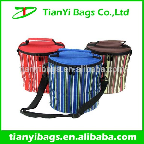 Bucket shape insulated lunch cooler bag zero degrees inner cool