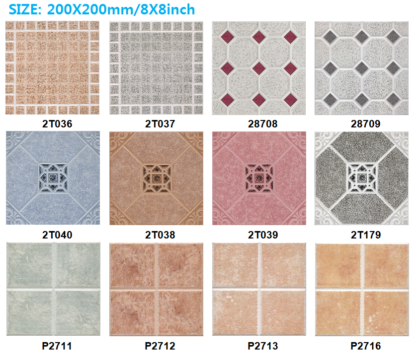 Superb 300x300 Ceramic Tiles,Non Slip Bathroom Floor Tile,Retro Tiles Part 15