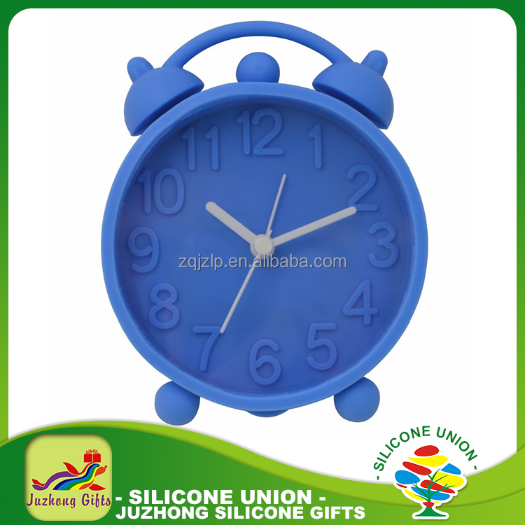2017 New Promotion Gifts Multi-color Mini Lovely Silicone Alarm Clock