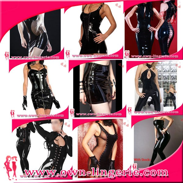 13e20fcee0 Women s Wetlook Vinyl PVC Teddy Catsuit Fetish Bodysuit Jumpsuit Costume  Zipper