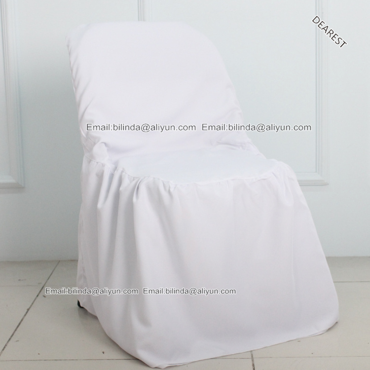 White black Spandex Outdoor Folding Chair Cover For