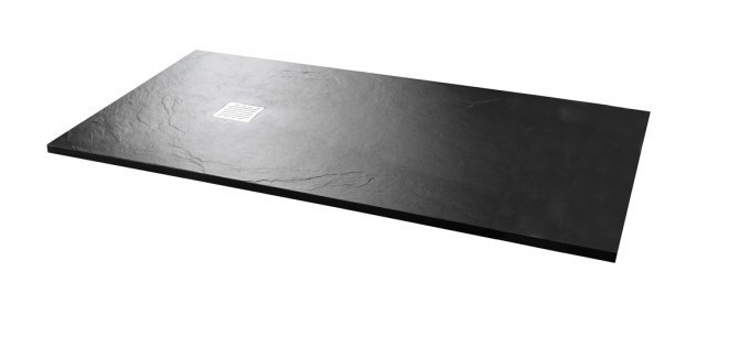 black textured slate effect shower trays buy shower. Black Bedroom Furniture Sets. Home Design Ideas