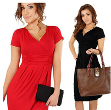 Maternity Pencil Dress Elegant Casual V Neck For Pregnant Dresses