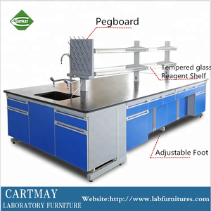 C -frame structure work bench for chemical laboratory