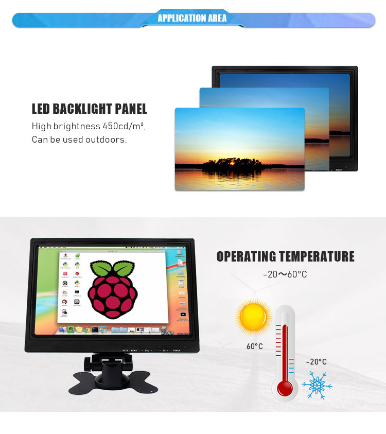 Black / White color 10 inch POS system USB Capacitive/resistive touch screen monitor