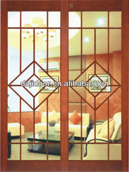 Glass wooden 2 panel system sliding doors dj s407 buy for Multi panel sliding glass doors
