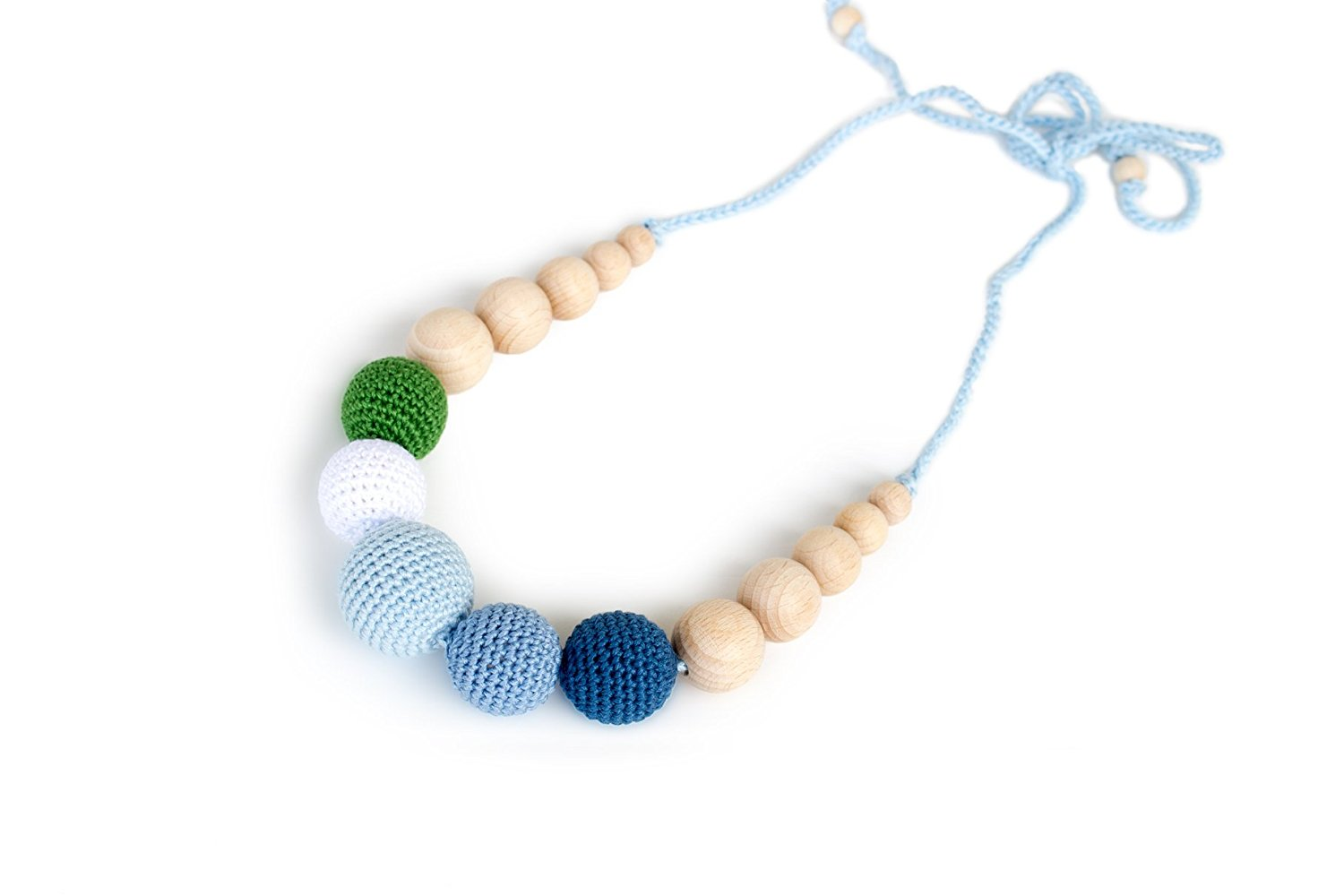 Raining In The Forest Wood Teething Necklace For Tfeeding Mom To Wear Sensory Chewable
