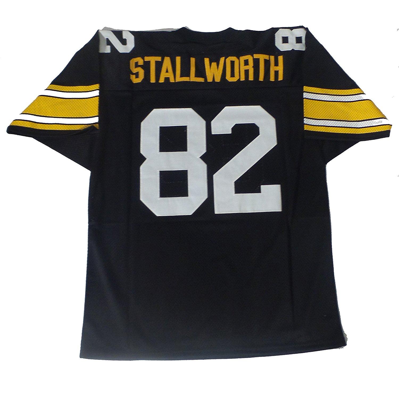 0c624155d Get Quotations · John Stallworth Pittsburgh Steelers Black Mesh Jersey  Men s Un Signed Custom Football Jersey Throwback Jersey Men s
