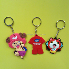 Zhongshan Eco-friendly EN71 3D soft pvc keychain/pvc rubber key rings for promotion gift