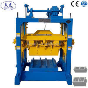Lowest price QTJ4-40 Hand operate block making machine/ small block machine for sale