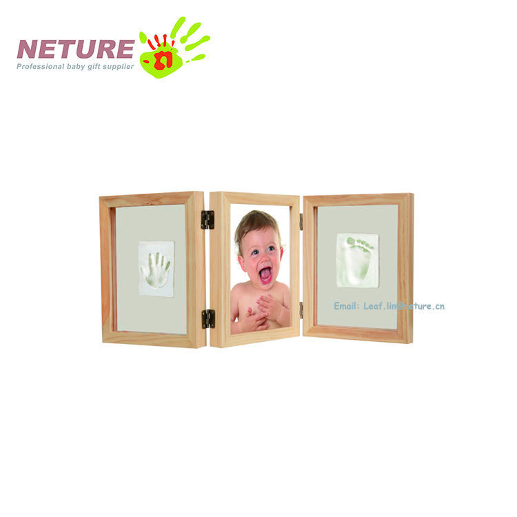Baby Handprint Kit & Footprint Photo Frame For Newborn Girls And ...