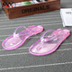 2018 Promotional Flip Flop Women Transparent PVC Cheap Wholesale Flip Flops