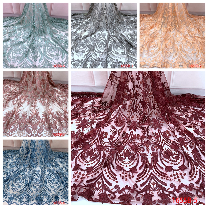 2019 fabric nigerian dress designs simple wedding lace gown customised