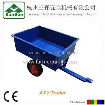 atv tow behind trailer with ce folding utility cart traileratv 44