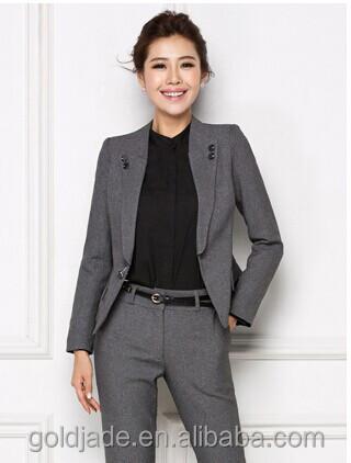 Top oem dames meisjes pak kantoor uniform ontwerp for Office design uniform