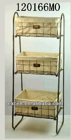 Rustic 3 Tier Floor Basket Stand Fruit Standing Rack Product On Alibaba