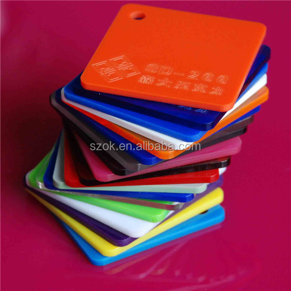 interior decoration various color useful acrylic sheet