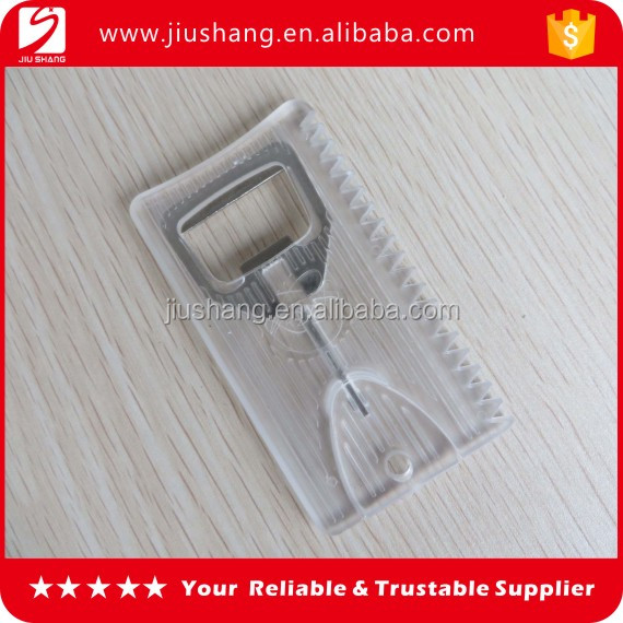 Plastic transparent credit card shape bottle opener