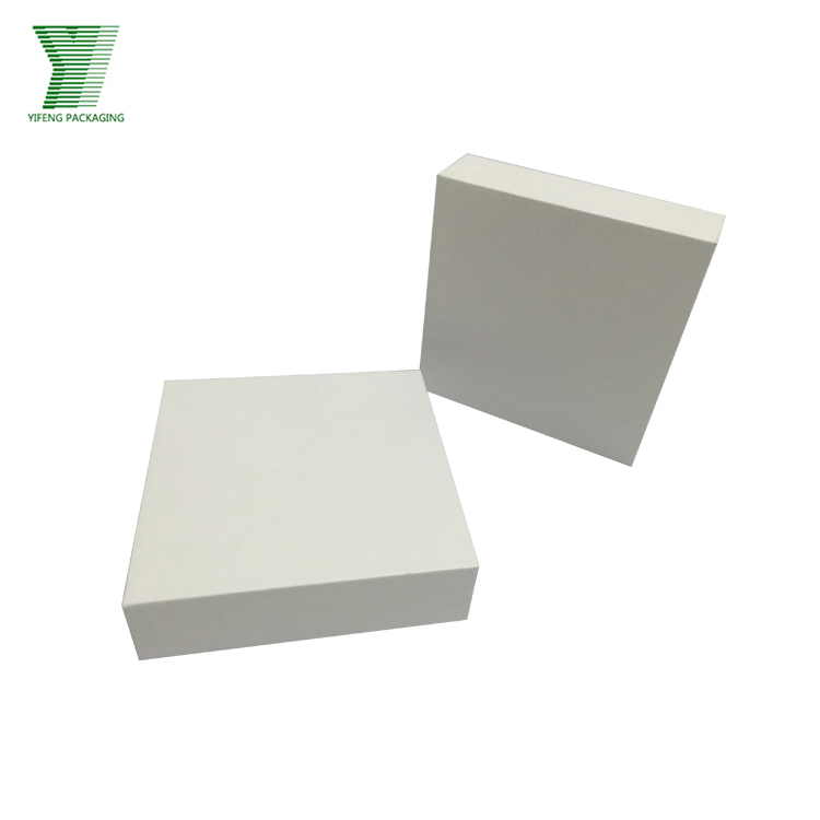 Fancy white wedding invitation paper card box wedding card box