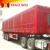2017 hot sale tri axle dry food transport van type box semi trailer for sale