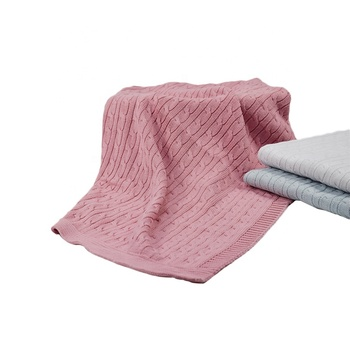 Free Sample Factory Oem Hot Selling Products Warm Super Soft Acrylic Knitted Baby Blanket