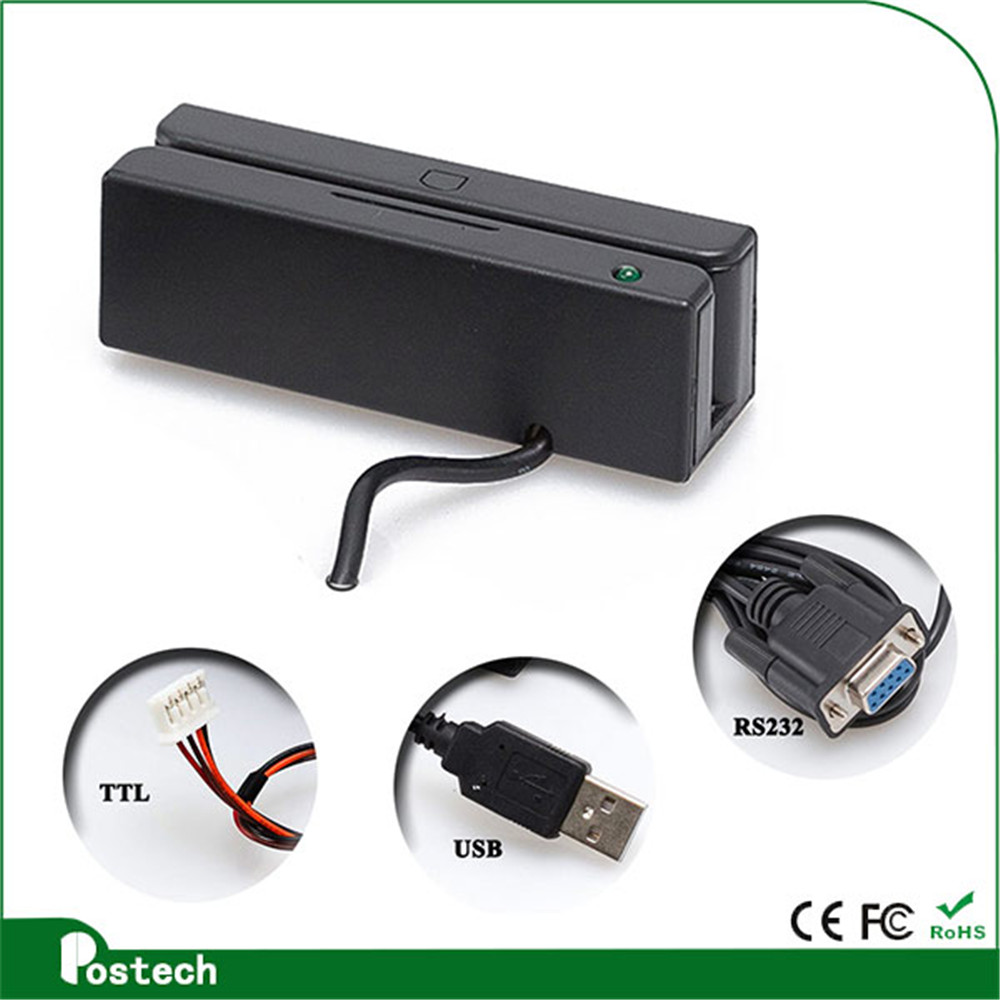 Mini Portable Magnetic Card Reader Mini Magnetic Reader For Member Card MSR100 MSR 90 RS232
