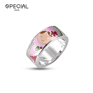 Special new arrival enamel 925 silver jewelry promise ring women wholesale