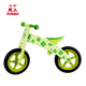 Children outdoor play green four leaf clover wooden baby balance bike for kids