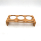 China factory wholesale kitchen wooden bamboo coffee tea cup wine bottle holder saucer